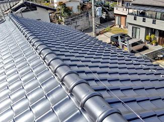 外壁・屋根リフォーム 新品に葺き替えて安心して生活できる瓦屋根