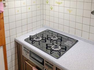 キッチンリフォーム お掃除がしやすくなったレンジフード&ガスコンロ
